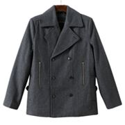 Marc Anthony Zippered Peacoat - Men