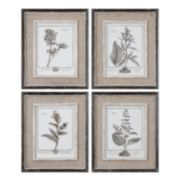 "Uttermost 4-pc. ""Casual Grey Study"" Framed Wall Art Set"