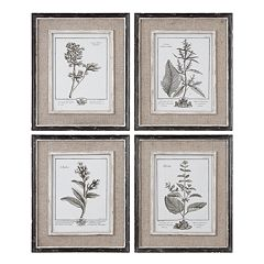 4 pc 'Casual Grey Study' Framed Wall Art Set