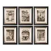 Uttermost 6-pc. Paris Scene Framed Wall Art Set