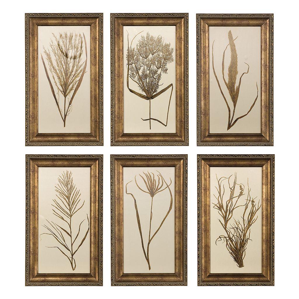 6-pc. Wheat Grass Framed Wall Art Set