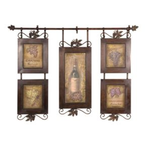 Hanging Wine Collage Wall Art