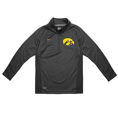 Nike Iowa Hawkeyes Dri-FIT Performance 1/4-Zip Shirt - Boys 4-7