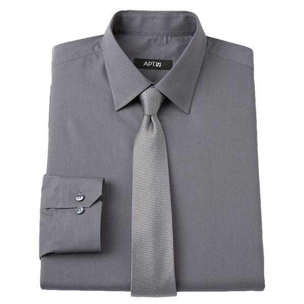 Apt 9 Apt 9 Slim Fit Spread Collar Dress Shirt