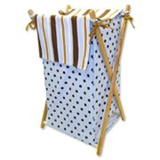 Trend Lab Max Polka-Dot Striped Hamper