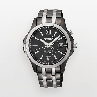 Seiko Kinetic Two Tone Watch - SKA551 - Men