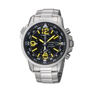 Seiko Solar Silver Tone Chronograph Watch - SSC093 - Men