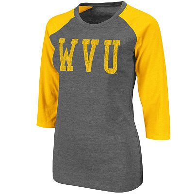 West Virginia Mountaineers Raglan Tee - Juniors'
