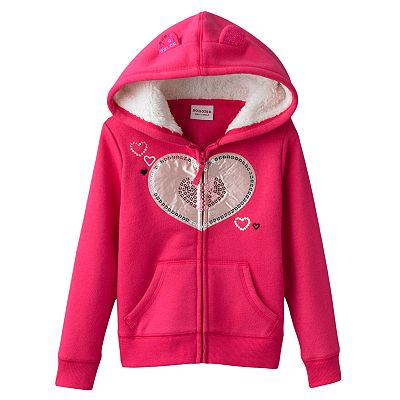 SONOMA life + style Heart Fleece Hoodie - Toddler