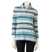 Croft and Barrow Striped 1/4-Zip Thermal Top