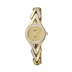 Seiko Women's Crystal Solar Watch - SUP176