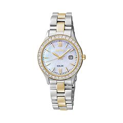 Seiko Women's Two Tone Solar Watch - SUT074