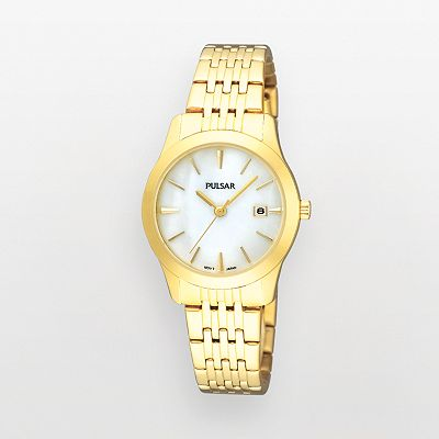 Pulsar Gold Tone Mother-of-Pearl Watch - PH7232 - Women