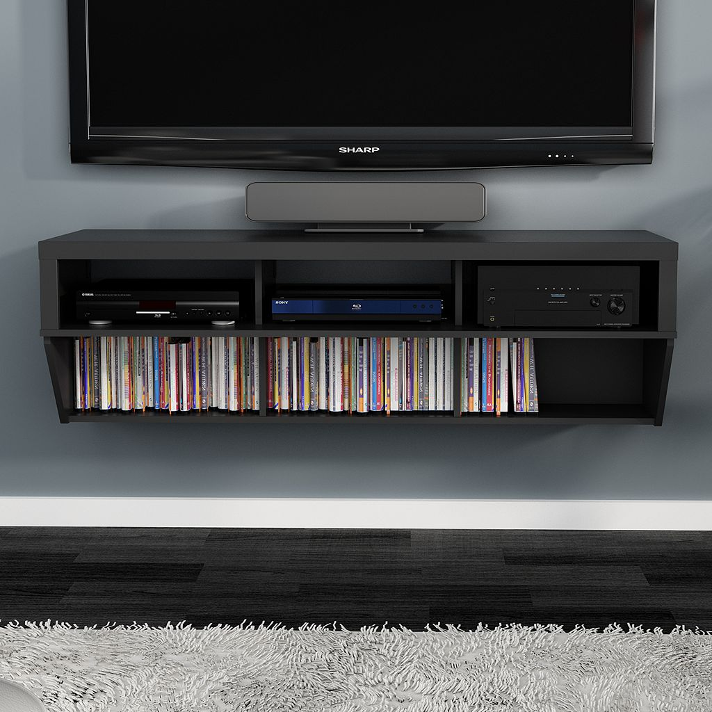 58-in. Wall-Mounted Entertainment Center