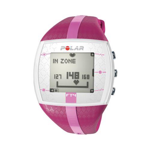 Polar Watch Set - Women's FT4 Purple Resin Digital Heart Rate Monitor Sport