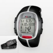 Polar Watch Set - Men's RS300X Black Resin Digital Heart Rate Monitor Sport