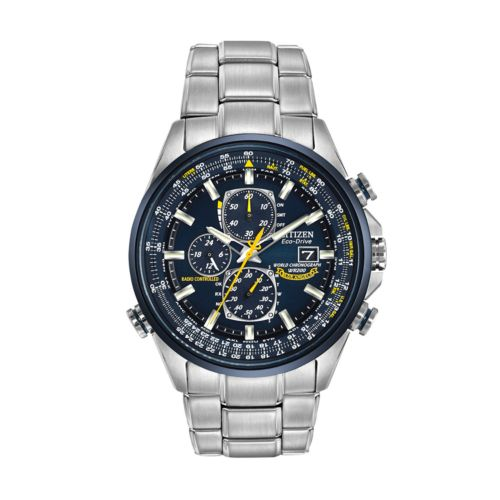 Citizen Eco-Drive Blue Angels World A-T Stainless Steel Flight Atomic Watch - AT8020-54L - Men