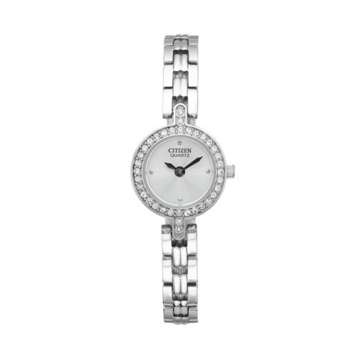 Citizen Stainless Steel Crystal Watch Set - Made with Swarovski Elements - EZ6340-65A - Women