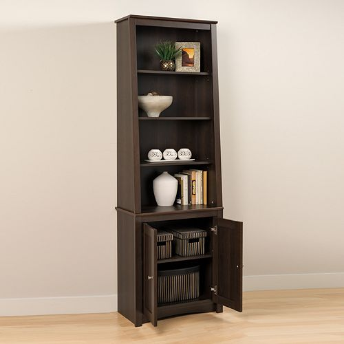 Slant-Back Bookcase with Doors