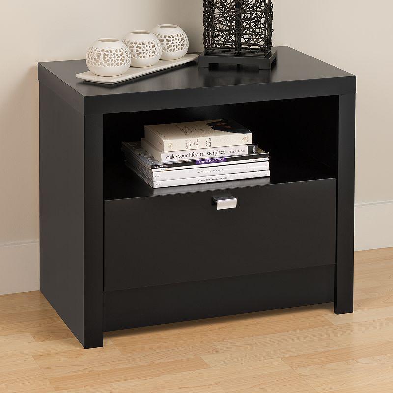 1-Drawer Nightstand (Black)