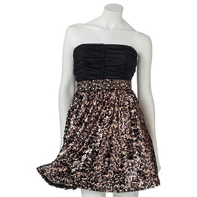 My Michelle Sequins Strapless Dress - Juniors