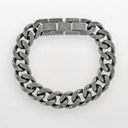 Stainless Steel Curb Chain Bracelet - Men
