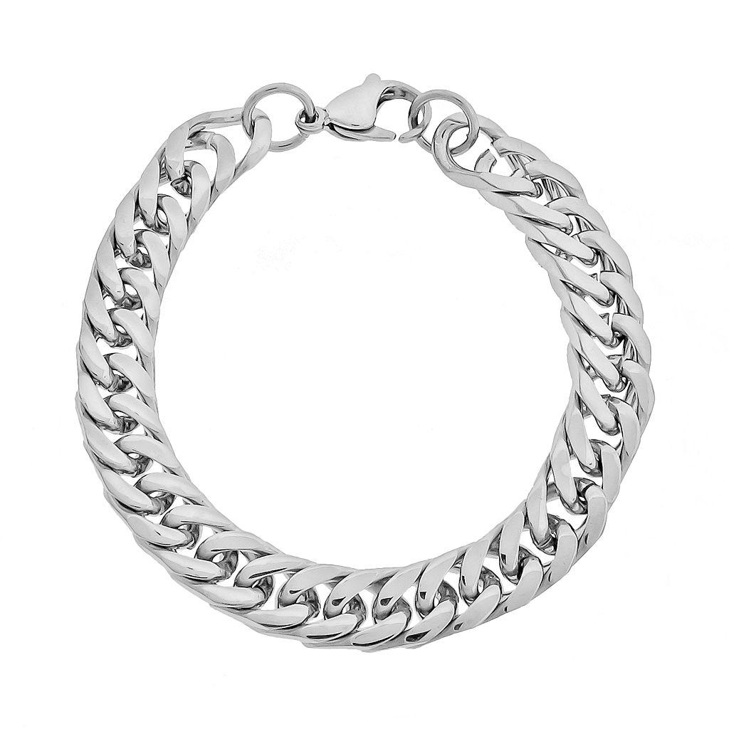 LYNX Stainless Steel Curb Chain Bracelet - Men