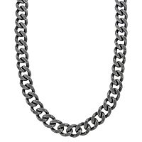 LYNX Stainless Steel Curb Chain Necklace - Men