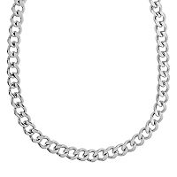 LYNX Stainless Steel Curb Chain Necklace - 20 in - Men