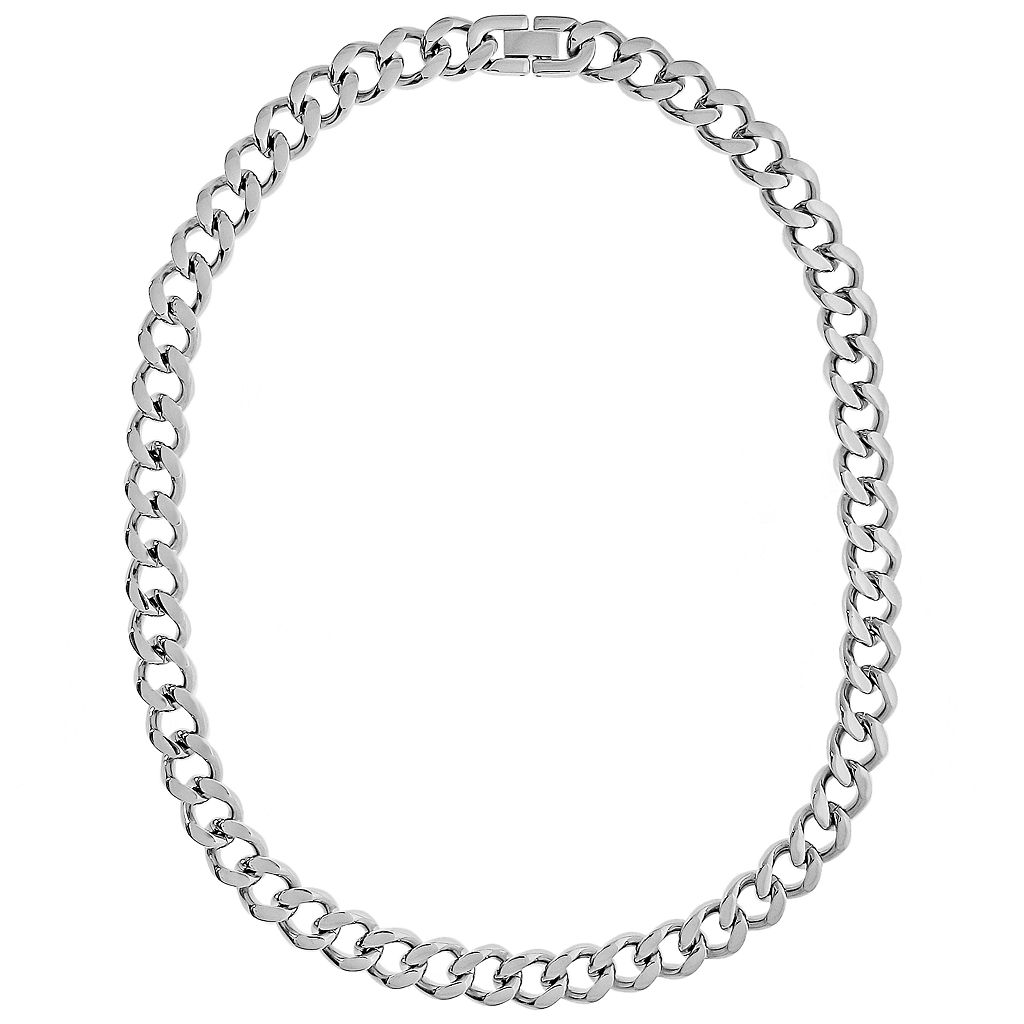 LYNX Stainless Steel Curb Chain Necklace - 24-in. - Men