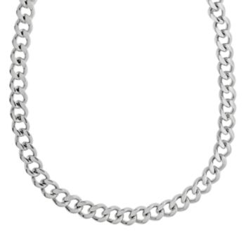 LYNX Stainless Steel Curb Chain Necklace - 30-in. - Men