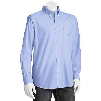 Chaps Easy-Care Solid Casual Button-Down Shirt