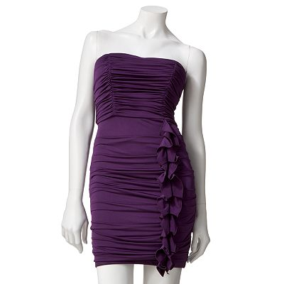 My Michelle Shirred Strapless Dress - Juniors