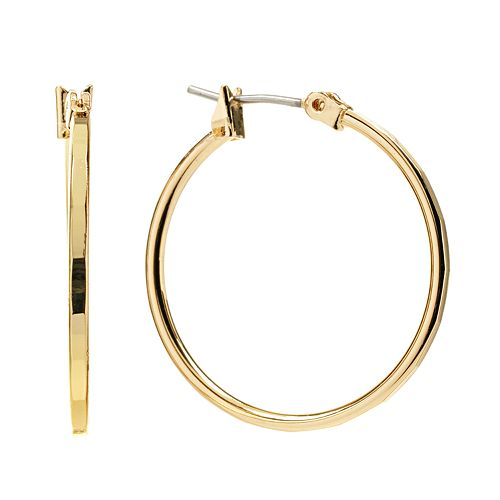 Napier Gold Tone Hoop Earrings