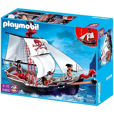 Playmobil Skull and Bones Pirate Ship Playset - 5950