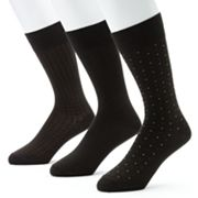 Jockey 3-pk. Staycool 360 Stretch Patterned Dress Socks