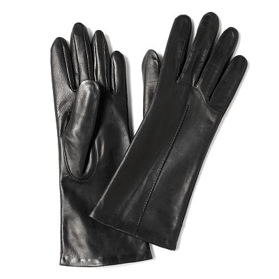 Isotoner Leather Long Gloves