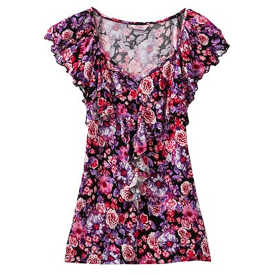 Candie's Floral Ruffle Top - Girls 7-16