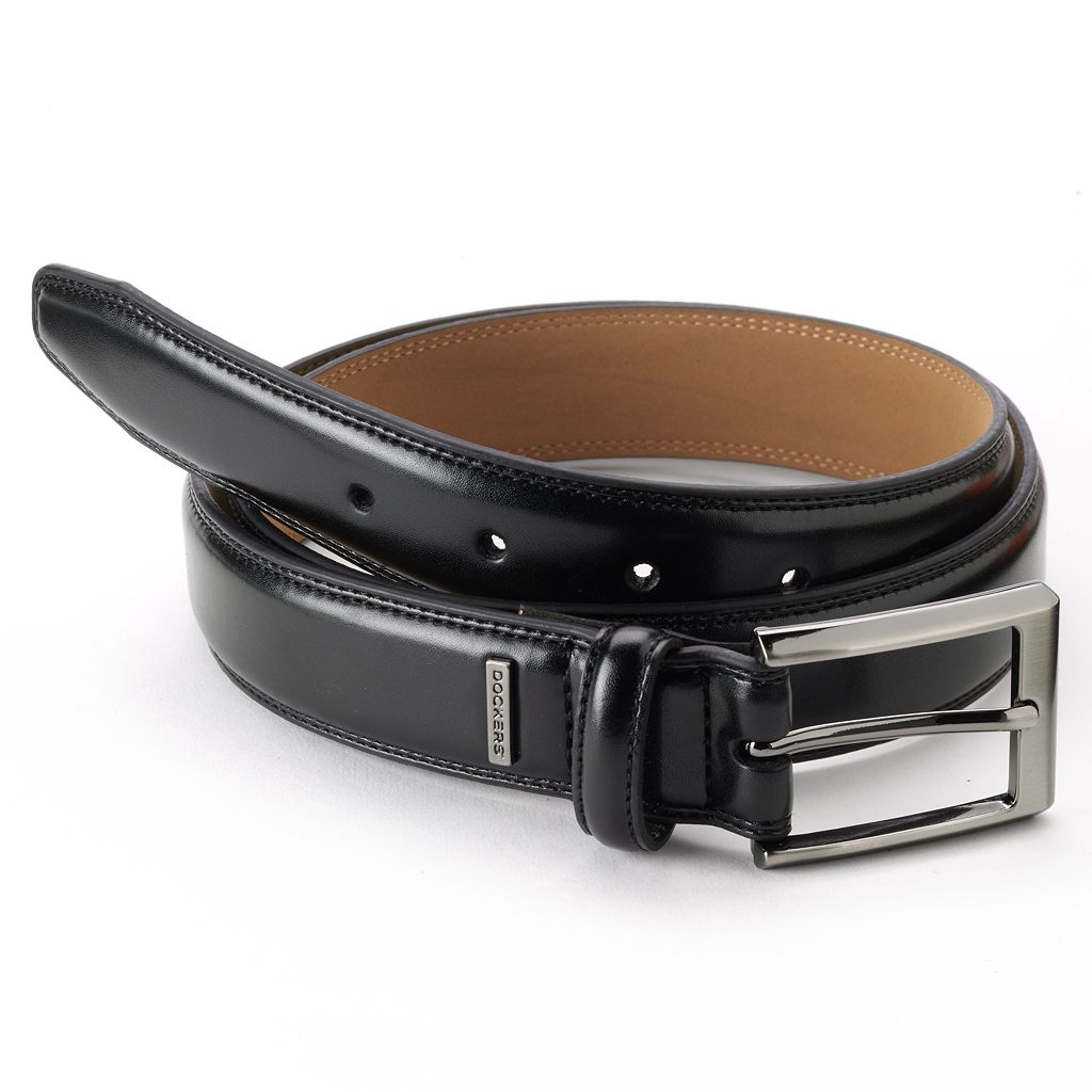 Dockers® Stitched Ornament Leather Belt