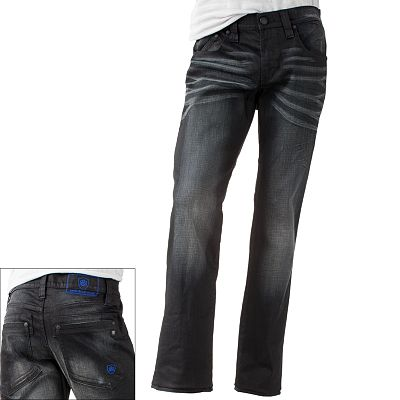 Rock and Republic Black Resin Slim-Straight Jeans