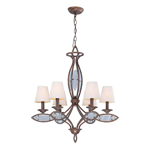 Damaris Bronze Tone Chandelier