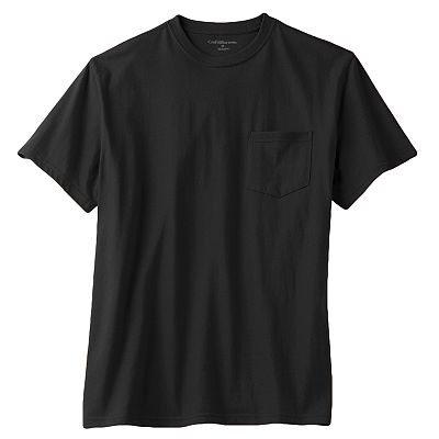 Croft and Barrow Solid Pocket Tee