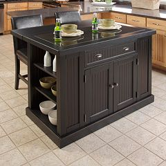 Home Styles Nantucket 3 pc Kitchen Island Set