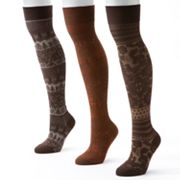 MUK LUKS 3-pk. Microfiber Over-The-Knee Socks