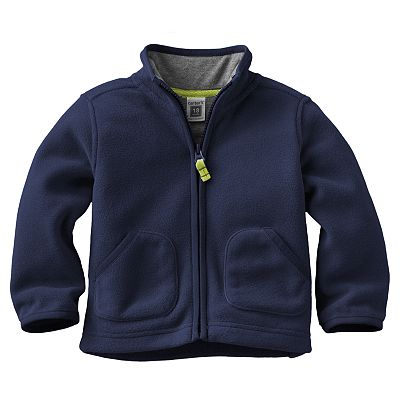Carter's Solid Microfleece Jacket - Baby