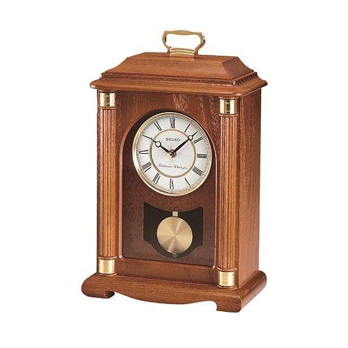 Seiko Oak Mantel Carriage Clock - QXJ114BLH