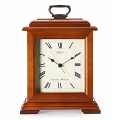 Seiko Wooden Carriage Mantel Clock - QXJ102BC