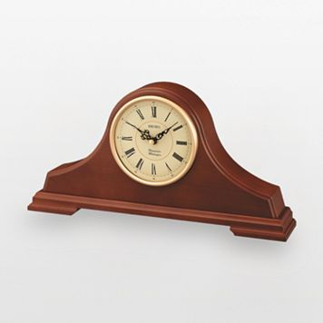 Seiko Tambour Oak Mantel Clock - QXJ008BLH
