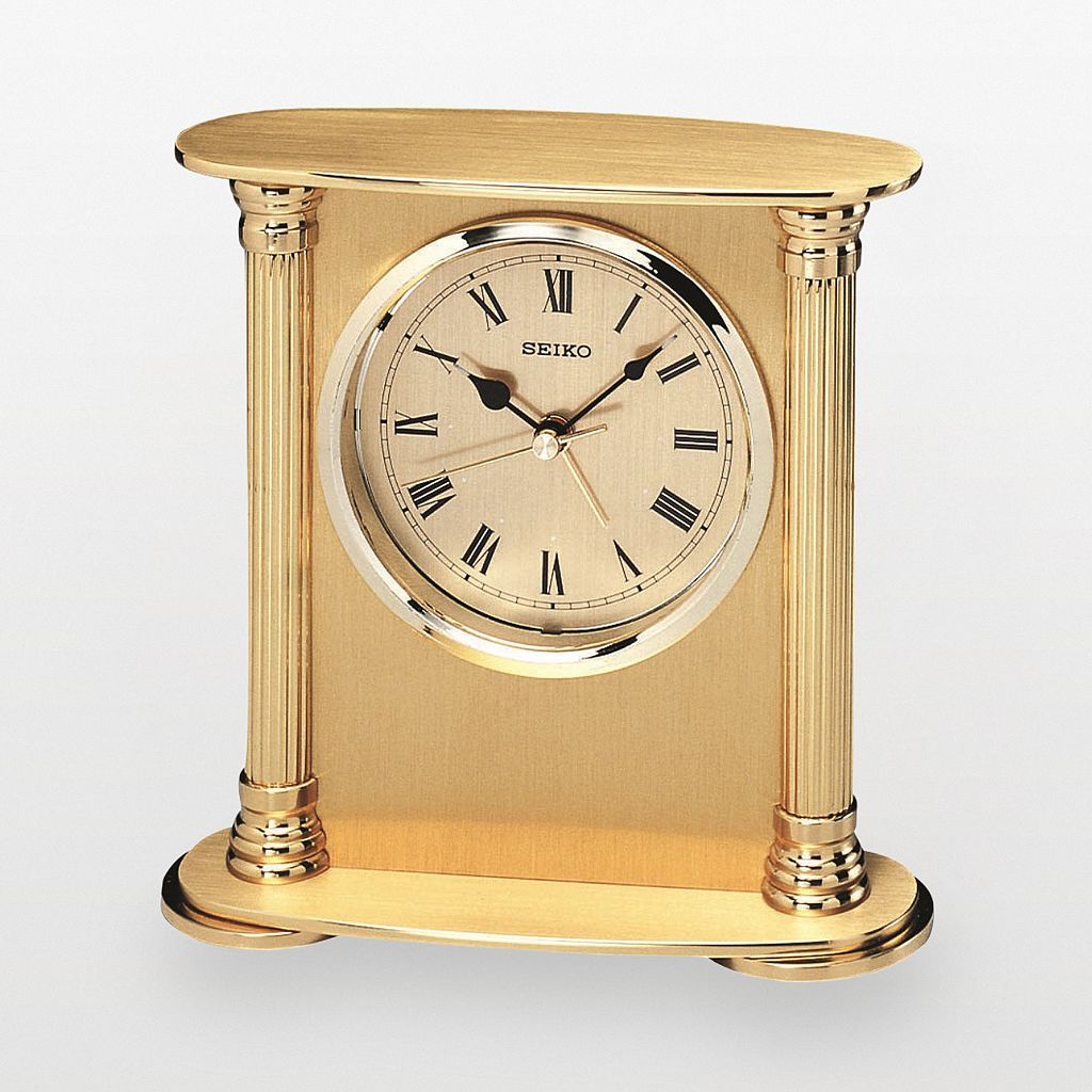 Seiko Gold Tone Alarm Clock - QHE102GL