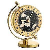 Seiko Gold Tone Globe Clock - QHG106GLH